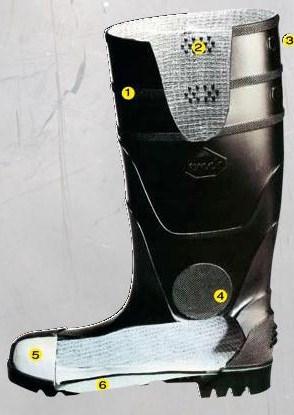 botas de punta de acero de woodland